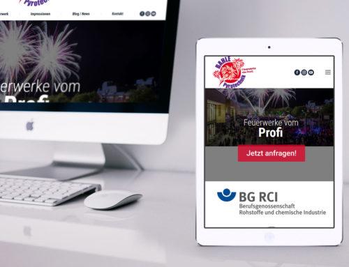Homepage-Erstellung  Bahle-Pyrotechnik.de
