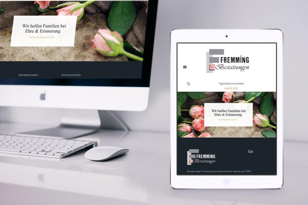 Internetseite Neuenkirchen Bestattungsinstitut Fremming