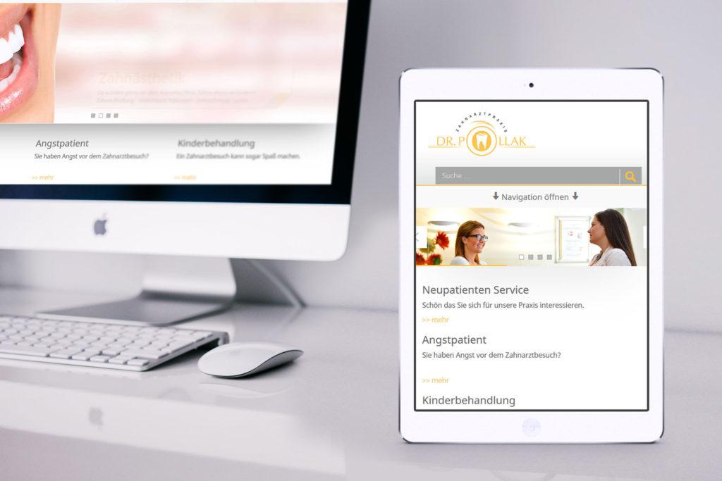 Internetseite Rheine - Dr. Pollak - Zahnarzt aus Rheine