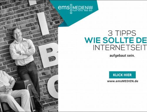 3 Tipps wie du deine Internetseite aufbauen solltest