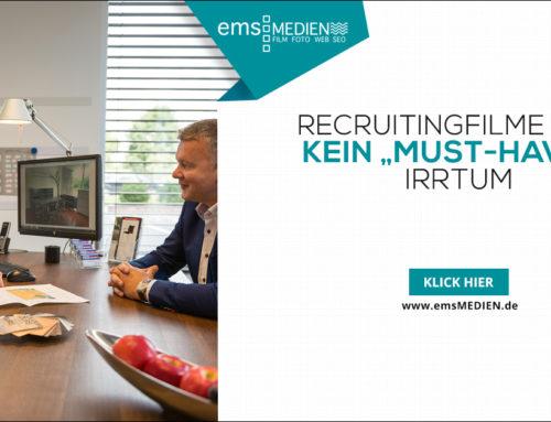 """Recruitingfilme sind kein """"must-have""""?  IRRTUM"""