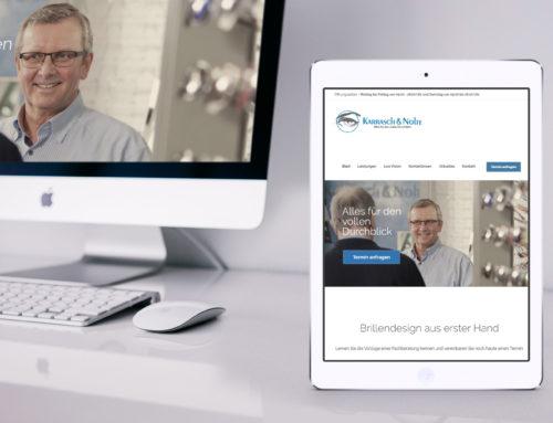 Internetseite Karrasch & Nolte Optiker Rheine
