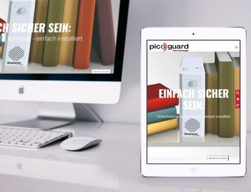 Neue Internetseite für picoguard.com